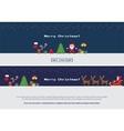 Pixel christmas banners set vector image vector image