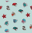 poisonous creatures concept icons pattern vector image vector image