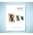 Report Bear King 8 bit playing card isolated vector image