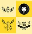 rock n roll forever skull vector image vector image