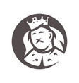 royal king head silhouette sign vector image vector image