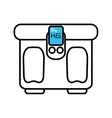 scale balance gym equipment icon vector image vector image