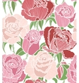 seamless background with pink and red roses vector image