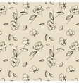 Seamless cute flower pattern vector image vector image