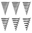 set icon sign tornado hurricane swirl vector image vector image