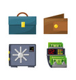 set icons money over blue background vector image