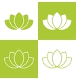 Simple green lotus plant set vector image vector image