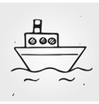 small doodle ship vector image vector image