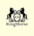 Standing Horse Decor Logo vector image