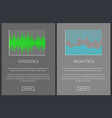 statistics and analytics charts banner vector image