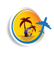 sticker travel color vector image vector image
