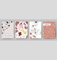 terrazzo poster broken tiles abstract art vector image vector image
