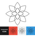 transparent flower icon vector image