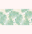 tropical seamless pattern with palm leaves modern vector image vector image