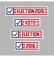 US presidential election vote set vector image