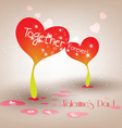 Valentine sprouts hearts vector image