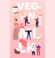 vegan milk concept characters with assortment of vector image