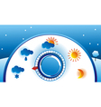 weather thermometer vector image vector image