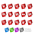 Wireless Communications Stickers vector image vector image