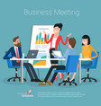 flat design office concept vector image