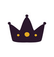 black crown silhouette icon vector image