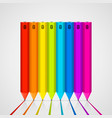 color pencils isolated on white background vector image