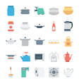 Kitchen Colored Icons 4 vector image