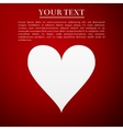 Heart flat icon on red background vector image