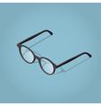 Isometric reading glasses vector image