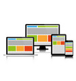 fully responsive web design in modern electronic vector image