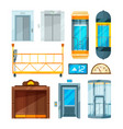 set of different modern glass elevators vector image