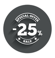 25 percent discount sign icon Sale symbol vector image vector image