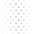 Abstract dotted gray and white pattern vector image vector image