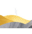 abstract landscape banner with japanese wave