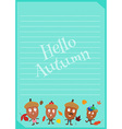 acorn family letter vector image vector image