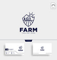 agriculture farm line badge vintage logo template vector image