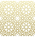 Arabic pattern gold style Traditional east vector image vector image