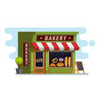 bakery shop house cafe building vector image vector image