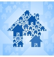 Blue home symbol on light blue background vector image vector image