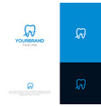 bridge tooth logo template vector image