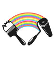 brush and roller with paint vector image vector image