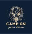 camping logo vector image vector image