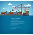 Cargo Sea Port Flyer Design vector image vector image