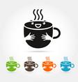 coffee cute cup logo design elements vector image vector image