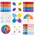 collections infographics elements template 4 vector image vector image