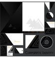 Corporate identity template no 19 vector image vector image