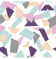 delicate seamless mosaic pattern mosaic shapes vector image vector image