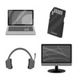 design of laptop and device sign set of vector image