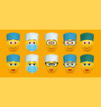 doctor emoticon character set isolated vector image