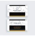 elegant black and gold marble business card design vector image vector image